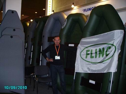 """Лодки ПВХ FLINC на выствке """"Охота и рыболовство на Руси 2010"""""""